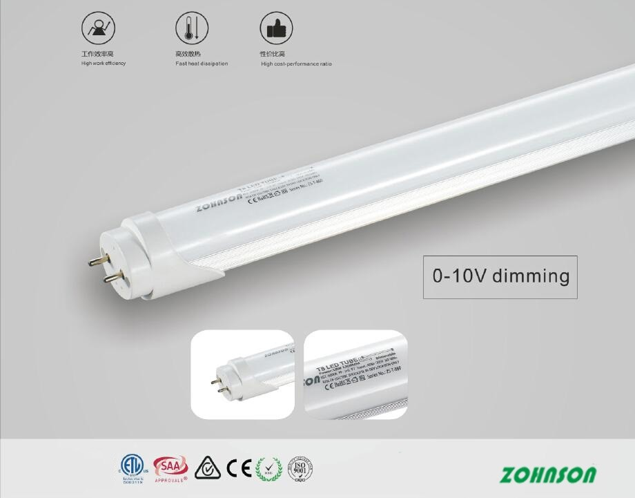 TRIAC Dimmable led T8 tube 0.6m 9w