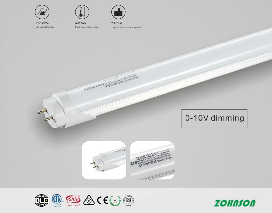 TRIAC Dimmable led T8 tube 1.2m 18w
